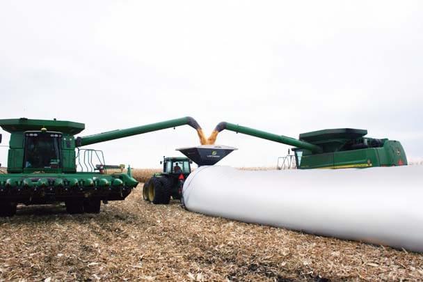 Loftness-Grain Bagging in field Belgrade MN